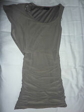 Topshop grey bodycon stretch dress short, sleeveless. Size 8