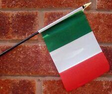 ITALY flag PACK OF TEN SMALL HAND WAVING FLAGS Italian Rome Milan