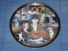 New York Yankees 12 inch Danbury Mint Plate 1977-78 World Champions Munson