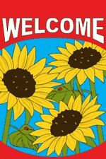 "2'x3' Welcome Garden Flag Lovely Sunflowers 24""x36"" 2X3"