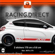 Stickers autocollants adhésifs pour étrier de frein PEUGEOT 206 207 307 GTI