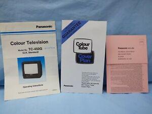 Panasonic TC-450G Colour TV Vintage Operating Instructions  Manual ( U.K.)