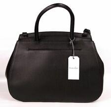 Steven Alan Kate Calfskin Black Leather Pebbled Handle Satchel Purse SAX312 $395