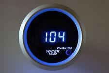 "2"" Digital Water Temperature Meter Blue LED Silver Bezel Smoke Lens 104 - 280 F"