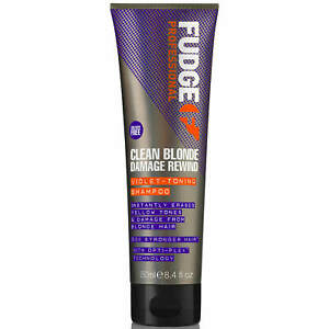 Fudge Clean Blonde Damage Rewind Violet Toning Shampoo 250ml
