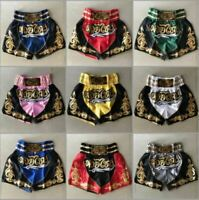 Muay Thai Fight Shorts MMA Grappling Kick Boxing Trunks Martial Arts(Embroidery)