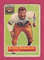 1956 Topps Football # 87 Ernie Stautner -- Pittsburgh Steelers -- Box 708-135