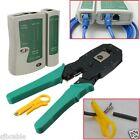 RJ45 RJ11 RJ12 CAT5 LAN Network Cable Tester Crimper Stripper Punch Tool Kit New