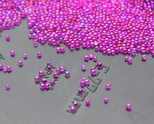 12g Glass MicroBead No Hole 0.6mm-1mm Nail Art Caviar Marbles Micro beads
