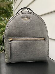 Kate Spade New York Sammi Patterson Drive Pewter Leather Backpack