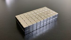 100 STRONG NEODYMIUM MAGNETS 5MM CUBE MAGNETIC BLOCK CUBES SQUARE