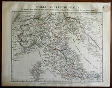 Northern Italy Historical Etruscans Gauls Liguria 1828 Arrowsmith engraved map