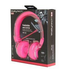 Tête de rose casque écouteurs 2m de long câble pour les enfants enfants garçons filles