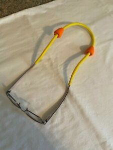 Chums Floating Neoprene Glasses Retainer Strap With Neon Orange Bobbers
