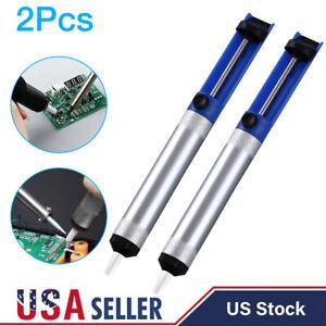 2x Solder Sucker Desoldering Pump Soldering Iron Suction Removal Tool Aluminum