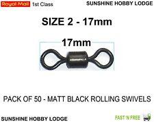 Taille 2 rolling émerillons 90lb tension de rupture cadeau gratuit. pack de 50