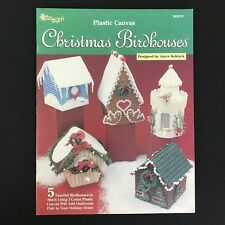 Plastic Canvas Christmas Birdhouse Needlecraft Shop Gingerbread Snow 7 Count