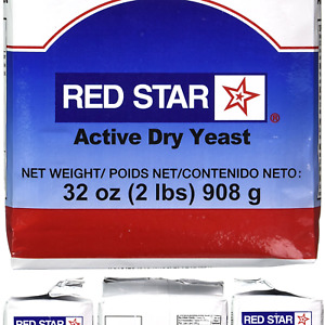 Red Star Active Dry Yeast, 2 Pound Pouch 2 Pound (Pack of 1)