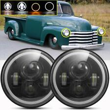 "2X 7""Inch 280W LED Headlight Round HI/LO Sealed Beam for Chevy Pickup Truck 3100"