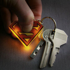 DC Comics Superman Logo LED Keyring Keychain Light Up Stocking Filler Gift