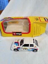 Burago Peugeot 205 Turbo 16 with box model 4123 1/43 diecast metal