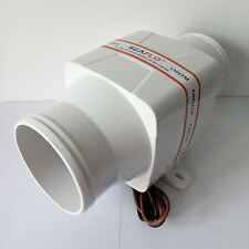 "3"" In Line Blower Boat Bilge Engine Galley Marine Ventilation Fan 12V 130CFM"