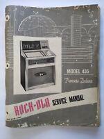 Rock Ola Model 435 Princess Deluxe Jukebox Service Manual Original Loose Pages