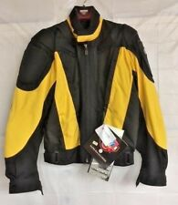 FIRST GEAR TEXTILE MOTORCYCLE JACKET~ MEN'S MEDIUM ADULT ~ NEW WITH TAGS