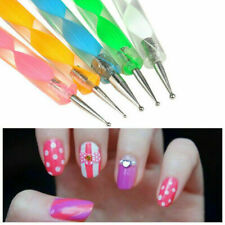 UK 5PC 2 WAY DOTTING NAIL ART PENS SET Dot Tool Fashion Manicure Accessory Kit