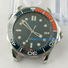 41mm luminous sterile blue dial sapphire crystal date automatic wrist watch