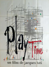 PLAYTIME - JACQUES TATI - ARCHITECTURE - ORIGINAL LARGE FRENCH MOVIE POSTER