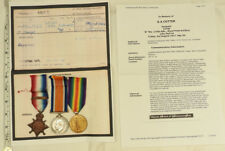 Military Mons Star 1914 Clasp Trio Medal Group Killed In Action RFA (5186)