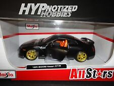 Maisto 1:24 All Stars 2009 Nissan Gt-R Die Cast Black 31339