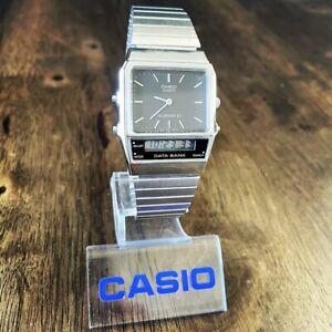 CLEAN Vintage 1987 Casio AB-100 Digital Data Bank Watch Made in Japan Module 344