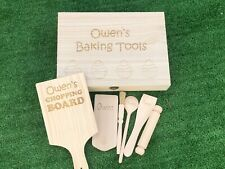 Personalisierte Kinder Holz Backen Geschenk Set-Kochen Backen