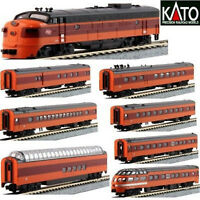 KATO 106082 + 1762301 N MILWAUKEE Olympian Hiawatha 1 Loco FP7A #95C & 9 Cars