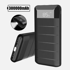 300000mAh External Power Bank Pack 2USB Portable Battery Charger For USB Devices