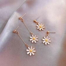 Women's Drop Earrings Trendy Daisy Long Short Chain Earbob Alloy Jewelry Sweet