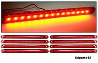 8x Rosso Segnalatore Luce Ingombro A 15 Led Laterale Tensione 12V/24V Camion Bus