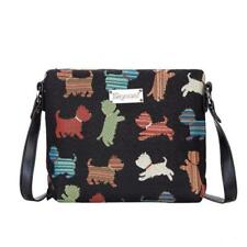 Signare Womens Tapestry Fashion Shoulder Handbag Across Body Messenger Bag puppy