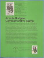 USA #1755 U/A SOUVENIR PAGE FDC   Jimmie Rodgers