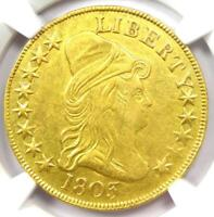 1803 Capped Bust Gold Eagle $10 Coin - NGC AU Details (Graffiti) - Rare!