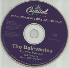 THE DELEVANTES I'm Your Man PROMO DJ CD single BRUCE SPRINGSTEEN BASS Player