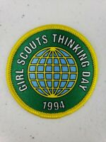 """Vintage 1994 Girl Scouts Thinking Day Patch 2.25"""" NOS"""