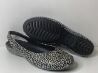 Crocs Olivia II Leopard Print Flat Womens Size 10 Slip On Slingback Sandals Shoe