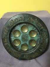 Hakishut Israel Made Verdigris Wall Plaque Men With Chariots And Camel