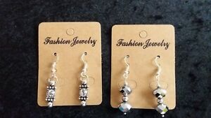 LADIES EARRINGS FASHION EARRINGS. A CHOICE OF 2 ATTRACTIVE DESIGNS. HOOK FITTING
