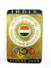 ATHENS 2004 OLYMPICS INDIA NOC NATIONAL OLYMPIC COMMITTEE  PIN BADGE  RARE