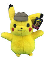 NWT Pokemon Movie Detective Pikachu Soft Plush NEW Large Stuffed Animal