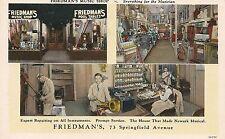 Friedman's Music Shop Newark NJ Postcard